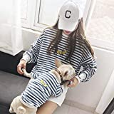 ZLALF Padres-Mascotas Ropa De Tira Disfraces para Perros Pequeños Gatos Y Mamás -Pet Dueño Y Mascotas Conjuntos Familiares para Perros Y Gatos Camisa,Blue-3XL