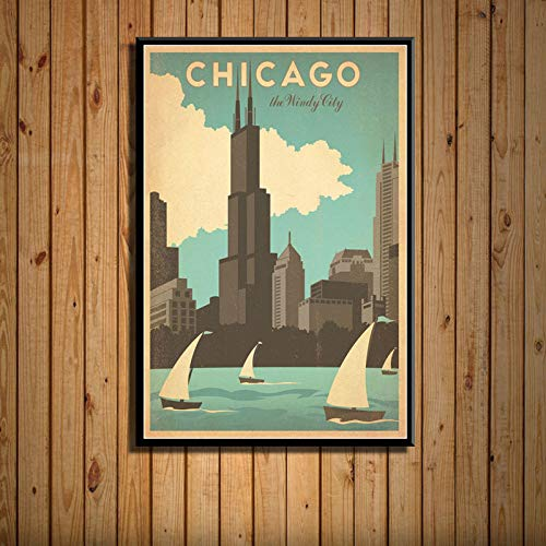 zxddzl New York, Niederlande, Amsterdam, London, Retrotourismus, Stadtlandschaftskunstmalerei 38 42 * 60