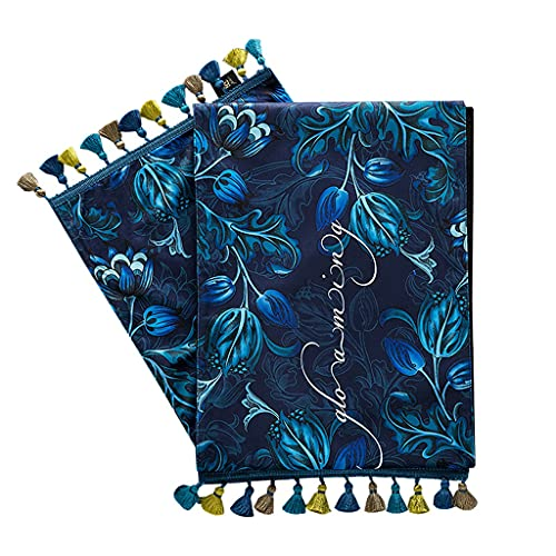 YSMLL Camino de mesa de flores y pájaros de estilo europeo, mesa de centro de estilo europeo retro, armario de TV, mantel, cama, bandera (Color : B, Size : 30x220cm)