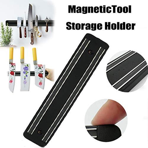 Magnetische Messerhalter Edelstahl Messerhalter Wandhalter Chef Rack Strip Utensil Home Kitchen Tool (Schwarz)