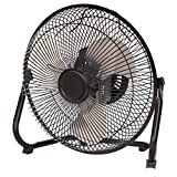 Mainstay 9' Durable Metal High-Velocity Fan with Three-Speed Rotary Switch, Black (1)