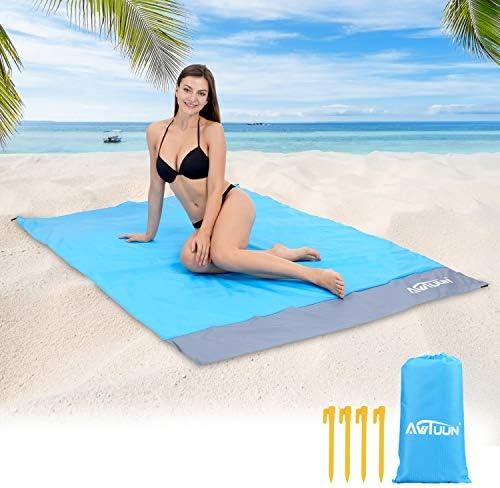 Awtuun Sandfree Beach Mat Extra Large 79 X55 Portable Beach Blanket Waterproof Quick Drying product image