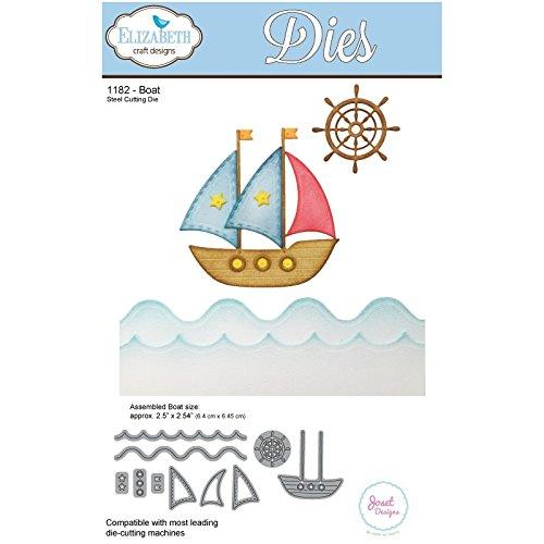 Elizabeth Craft Designs-Fustella a Forma di Barca, in Metallo, Colore: Grigio