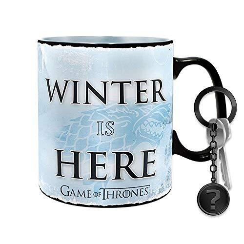 GOT - Winter is here - Farbwechsel-Tasse | SET inkl. Schlüsselanhänger