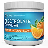 Dr. Berg's Original Electrolyte Powder, High Energy, Replenish & Rejuvenate Your Cells, 45 Servings, NO Maltodextrin or Sugar, No Ingredients from China, Amazing Orange Flavor