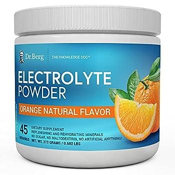 Dr Berg s Original Electrolyte Powder High Energy Replenish & Rejuvenate Your Cells 45 Servings NO Maltodextrin or Sugar No Ingredients from China Amazing Orange Flavor