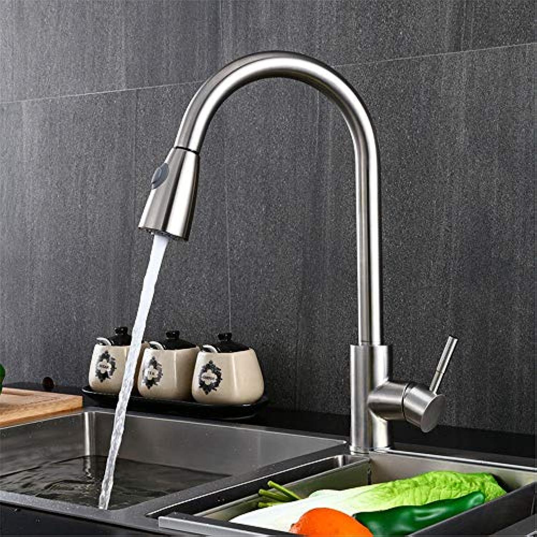 FUWUX Home Waschbecken Mischbatterie Badezimmer Küchenbecken Wasserhahn Dicht Wasserdicht Edelstahl Küche Warmes und kaltes Wasser B (Farbe   B)