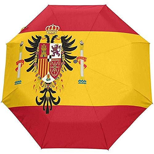 Merle House Automatische Regenschirme Spanische Flagge Golf Reisen Sonne Regen Winddicht Auto Öffnen Schließen Regenschirm mit UV-Schutz