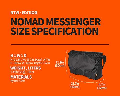 MONOFOLDラップトップバッグメッセンジャークロスバッグ豊かな収納機能通勤通学(NomadMessengerBag)