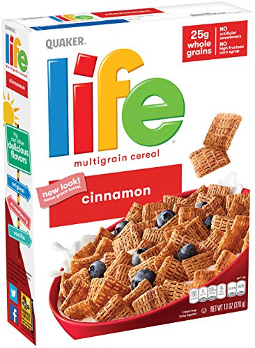 Life Breakfast Cereal Cinnamon 13oz Boxes 3 Pack