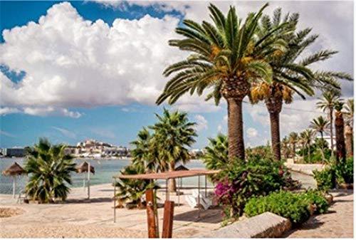 100/300/500/1000 piezas juego de rompecabezas juguetes para niños adultos,Paseo marítimo de Ibiza. Islas Baleares. España Puzzle Game Interesante Juguetes