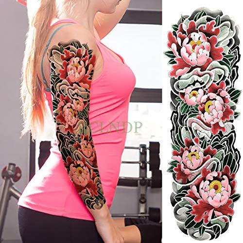 Handaxian 3pcs Bellezza Loto Completo di Nuovo Tatuaggio Braccio Ombrello Ragazza 3pcs 25