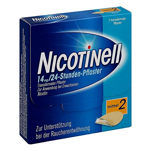 Nicotinell 14 mg/24-Stunden-Pflaster (bisher 35 mg) Stärke 2 (mittel), 7 St. Pflaster