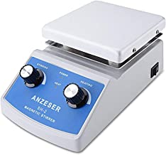 ANZESER Lab SH-2 Magnetic Stirrer Hot Plate, Stir Plate, Magnetic Mixer, 100~2000rpm, 180W Heating Power 350°C, 1 Year Warranty