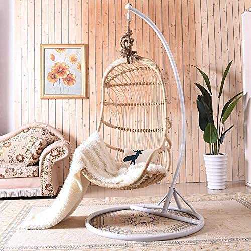 Home Equipment Swing Chairs Best Choice Products Metal Hanging Hammock C-Stand for Chair Porch Swing w/Weather-Resistant Finish Offset Base 360-Degree Rotation