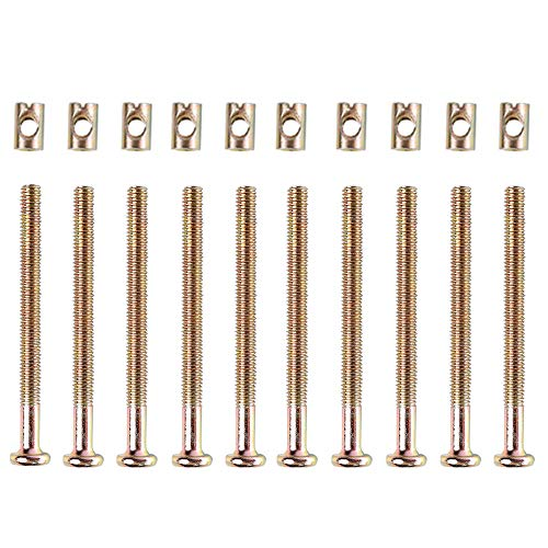 Crib Screws and Bolts Crib Parts Replacements for Baby Bed Cot Bunk Furniture M6 Barrel Nuts Crib Bolts 65mm