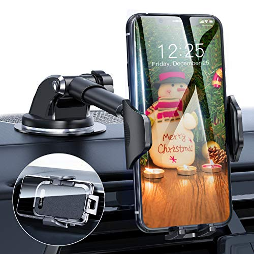 Cell Phone Holder for Dashboard Windshield Air Vent Universal Car Phone Mount Long Arm Compatible with iPhone 12 SE 11 Pro Max XR XS X Samsung Galaxy Note 20 S20 S10 S9 DesertWest 2020 Upgrade