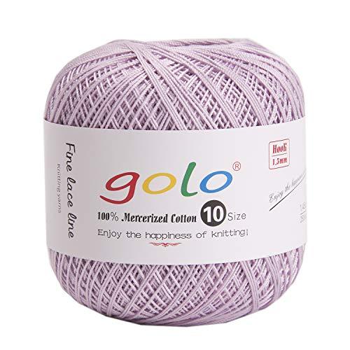 golo Crochet Thread Yarns for Hand Knitting Size10 (Lilac)