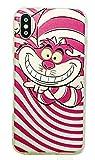 Phone Kandy Alice in Wonderland Cheshire Cat White Rabbit transparente claro de TPU Funda de silicona ultra fina y protector de la pantalla - Pemium (iPhone X, Tipo #5)