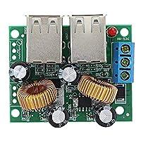 SCH-SC モジュール 7-40V 3A 24分の36/12 / 9Vに5V 3A多機能車4 USBインターフェース車の充電器の降圧、高効率モジュールのステップダウンボードシガーライター電源用のApple小米科技モジュールレシーバ PCアクセサリ