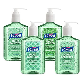 PURELL Advanced Hand Sanitizer Soothing Gel Fresh scent with Aloe and Vitamin E  8 Fl Oz Pump Bottle  Pack of 4