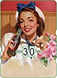 Calendario perpetuo CocaCola Vintage 'Woman with The Blue HairBow'