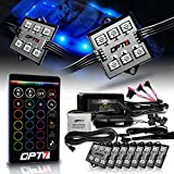 OPT7 Aura 8pc Boat Interior LED Lighting Kit with Multi-Color Light Features, Wireless