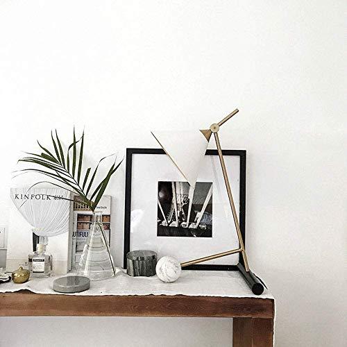 BINGFANG-W Dormitorio Mármol Bronce Retro Tabla de la lámpara Minimalista Moderna Creativas de Noche Luces 1 * E27 (31 * 56cm) Noble Classic Lámpara de Mesa