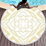 XIUZHEN Toalla de Manta de Playa Redonda, Toallas de Playa para Mujer, Toalla de...