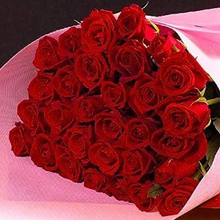 全5色から選べるバラの花束30本 バラギフト専門店マミーローズの豪華なバラの花束(生花) (赤) バレンタイン
