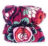 Vera Bradley Throw Blanket 80' x 50' Bloom Berry Fleece Blanket
