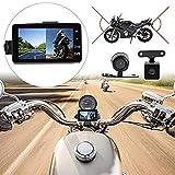 MASO - Telecamera da cruscotto per Moto Anteriore e Posteriore, Impermeabile, Doppio Video HD 1080p con IP68
