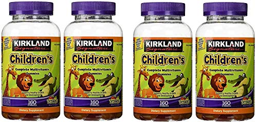 Kirkland Signature xGJNgN Childrens Complete Multivitamin Gummies, 160 Count (4 Pack)