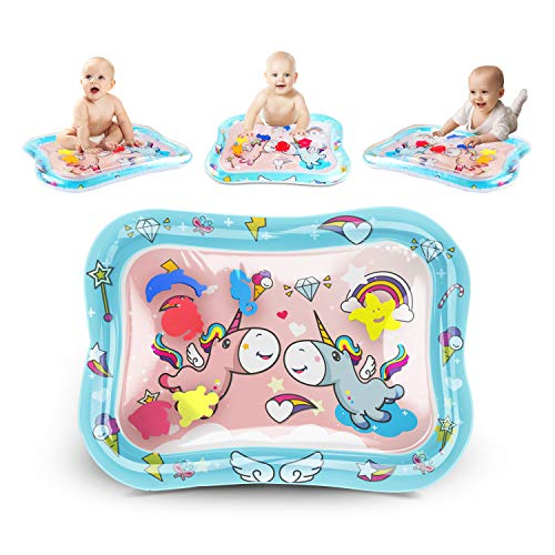 KidPal Tummy Time Water Play Mat Inflatable Infant Playmat Toys for Toddlers Babies Great Fun Water...