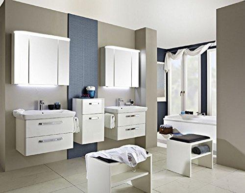 PELIPAL Pineo 3 TLG. Badmöbel Set/Waschtisch/Unterschrank/Spiegelschrank/Comfort N