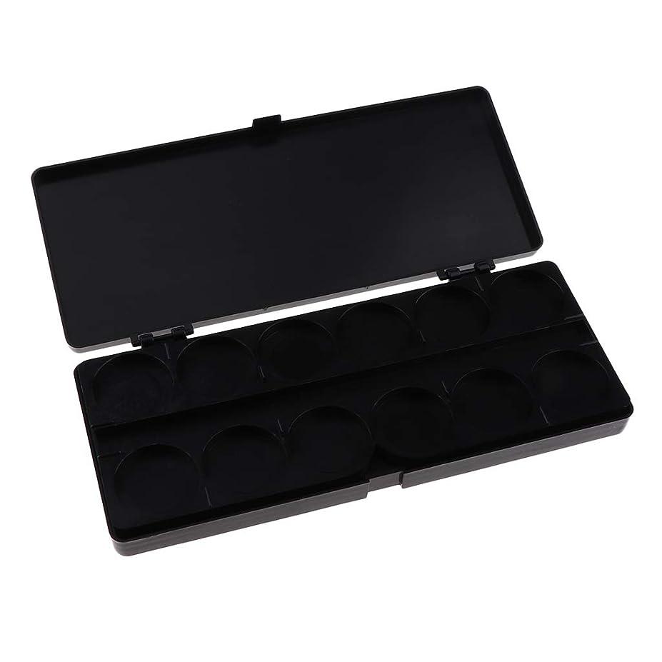 ヒューズ迫害舗装gazechimp 顔料パレット ネイルアートペイントパレット プラスチック製 全3色 - ブラック