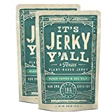 It's Jerky Y'all Vegan Jerky SEA SALT & PEPPER - High Protein, Low Carb, Non-GMO, Gluten-Free, Vegetarian, Whole30 (2-Pack)