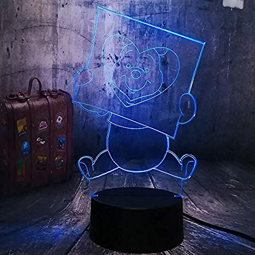 3D Nachtlampe Spielzeug für Kinder Cartoon Nette Honig Winnie Bär Liebesbirne Kind Neuheit Touch Fernbedienung Lampe Dekoration Room Home Baby Lampen Illusion Schlafzimmer Lichter Licht Geschenk Spiel