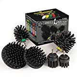 The Ultimate No-Wire Grill Brush Kit - BBQ Accessories - Drill Brush - Rust...