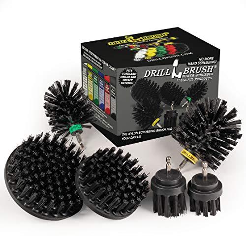 The Ultimate No-Wire Grill Brush Kit - BBQ Accessories - Drill Brush - Rust Remover - Cast Iron Skillet - Grill Cleaner - BBQ Brush - Grill Accessories - Grill Scraper - Electric Smoker - Gas Grill