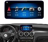 Road Top Android 10 Car Stereo Pantalla táctil de 10.25 Pulgadas para Mercedes Benz C GLC Class W205 C350E, GLC250, GLC300 2015-2018 Year Car, Compatible con Pantalla Dividida Carplay inalámbrica de