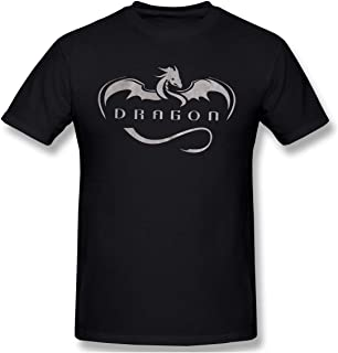 AHDDO Cool New Vintage SPACEX Dragon Men's Short-Sleeved Standard T-Shirt Black