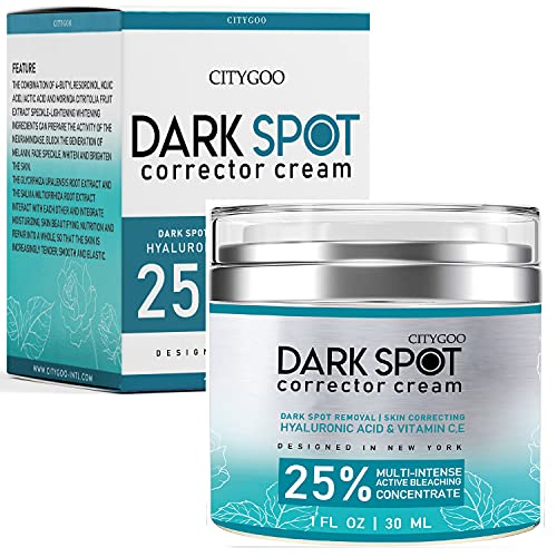 Dark Spot Remover for Face and Body, Age Spot and Freckle Remover; Dark Spot Corrector Cream, Enhanced with Advanced with Natural Ingredient: 4-Butylresorcinol, Kojic Acid, Lactic Acid and Salicylic Acid,1 Fl Oz