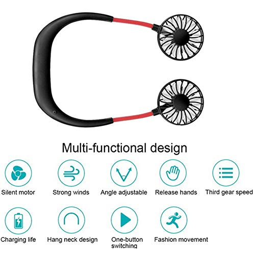 AITIME Portable Mini Neck Fan - Hand Free Personal Headphone...