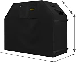 Grill Cover - garden home Up to 58 Wide, Water Resistant, Air Vents, Padded Handles, Elastic hem cord - Heavy Duty burner gas BBQ grill Cover