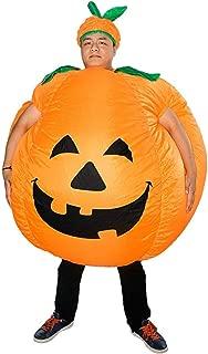 Zxfc Inflatable Pumpkin Costume Fancy Dress Halloween Blow Up Costumes Adult/Kids