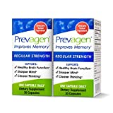Prevagen Improves Memory - Regular Strength 10mg 30 Capsules  2 Pack  with Apoaequorin & Vitamin D   Brain Supplement for Better Brain Health, Supports Healthy Brain Function & Clarity
