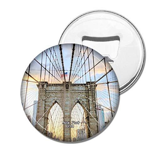 Weekino Brücke New York NY USA Amerika Brooklyn Bier Flaschenöffner Kühlschrank Magnet Metall Souvenir Reise Gift