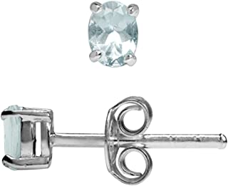 Epinki White Gold Plated Womens Stud Earring White Cubic Zirconia Ear-Wire Clip Oval Channel