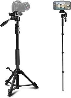 三脚 スマホ用 ビデオカメラ三脚 一脚可変式 クイックシュー式 カメラ 三脚 一脚 自立 水準器付き 3Way自由雲台 カメラ/スマホ用 軽量 コンパクト 1780mm